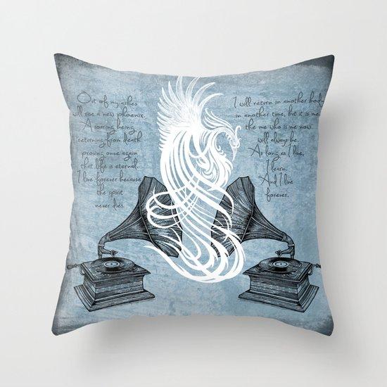 The Phoenix Rises Throw Pillow