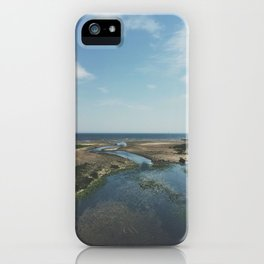 Southport Beach, CT inlet iPhone Case