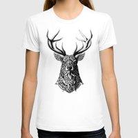 bioworkz T-shirts featuring Ornate Buck by BIOWORKZ