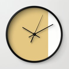 Gold Stripe (1) Wall Clock