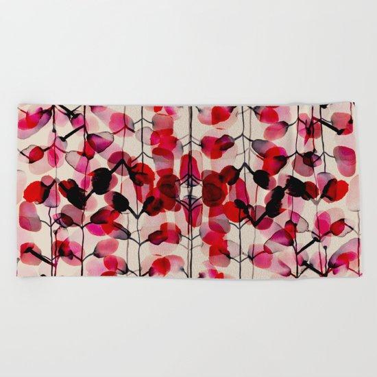 flower pattern 03 Beach Towel
