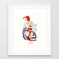 france Framed Art Prints featuring France by Melissa Ballesteros Parada