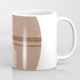 Minimal Abstract Greek Pottery 2 - Lebes - Terracotta Series - Modern, Contemporary Print - Beige Coffee Mug