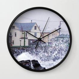 Exploding Sea Spray Wall Clock