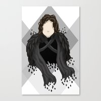 jon snow Canvas Prints featuring Jon Snow by itsamoose