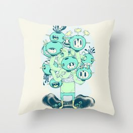 Many Heads are Better than None Throw Pillow