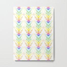 "series ""The chakras"" pattern upright, vertical Metal Print"