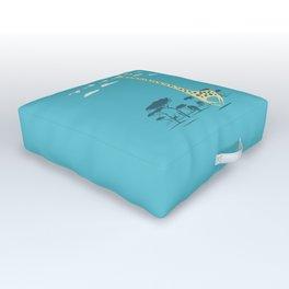 I'm like a bird (blue) Outdoor Floor Cushion