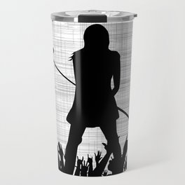 Girl With Microphone Travel Mug