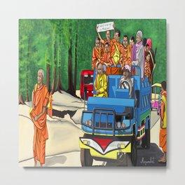 Truckin' Monks Metal Print