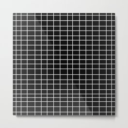 Squares of Black Metal Print