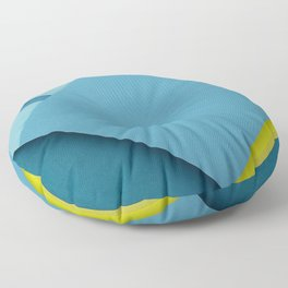 android blue and yellow material design Nexus X Stock lollipop geometric shapes creative geometry bl Floor Pillow