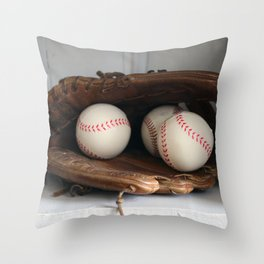 Baseball Glove Throw Pillow
