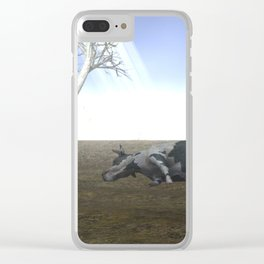 War Stars:Cow Clear iPhone Case