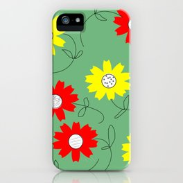 red and yellow coreopsis iPhone Case