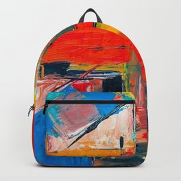 Colourful oil painting Backpack