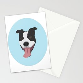 Smiley Pitbull Stationery Cards