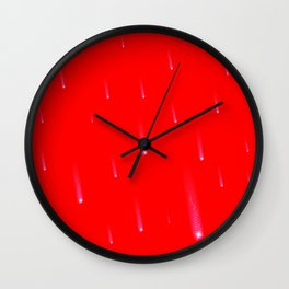 Red Falling Christmas Falling Stars Wall Clock