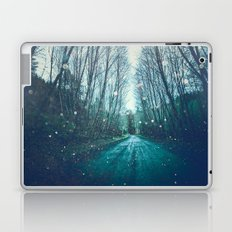 Forest Trees Nature Path - Vintage Magical Fairy Light Trail Laptop & iPad Skin
