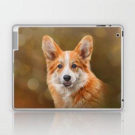 Drawing Dog breed Welsh Corgi Laptop & iPad Skin