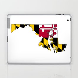 Map of Maryland with Maryland State Flag Laptop & iPad Skin