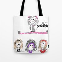 gym Tote Bags featuring @Gym by Indraart