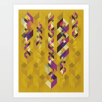 dna Art Prints featuring DNA by Lucky Skye