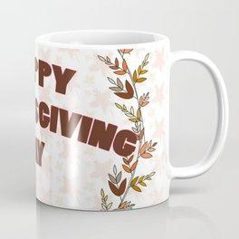 Greating card on Thanksgiving day Coffee Mug