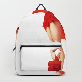 Pinup Girl Clipart Pin Up Girls Red Dress Backpack