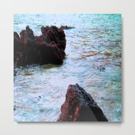 red rocks and turquoise sea Metal Print