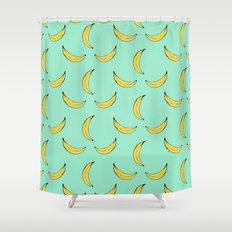 Blue Banana's Shower Curtain