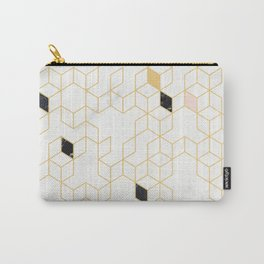 Keziah - Gold & Marble Carry-All Pouch