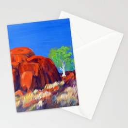 Devils Marbles Oil on Canvas Stationery Cards