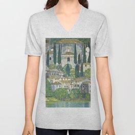 Village - Gustav Klimt Unisex V-Neck