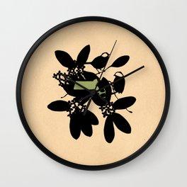 Massachusetts - State Papercut Print Wall Clock