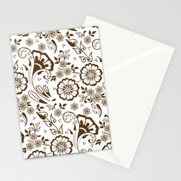 Mehndi or Henna Florals Stationery Cards