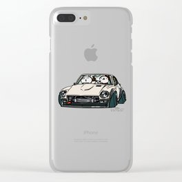 Crazy Car Art 0155 Clear iPhone Case