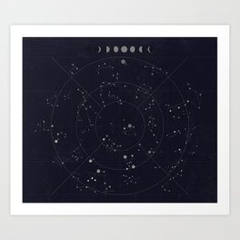 Constellations Art Print