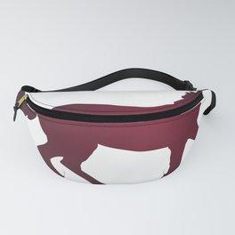 Horse - Running - Dark Red Fanny Pack