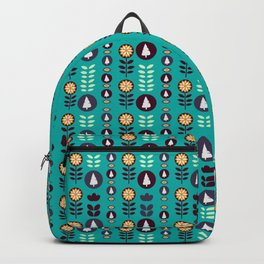 Christmas pattern in blue Backpack