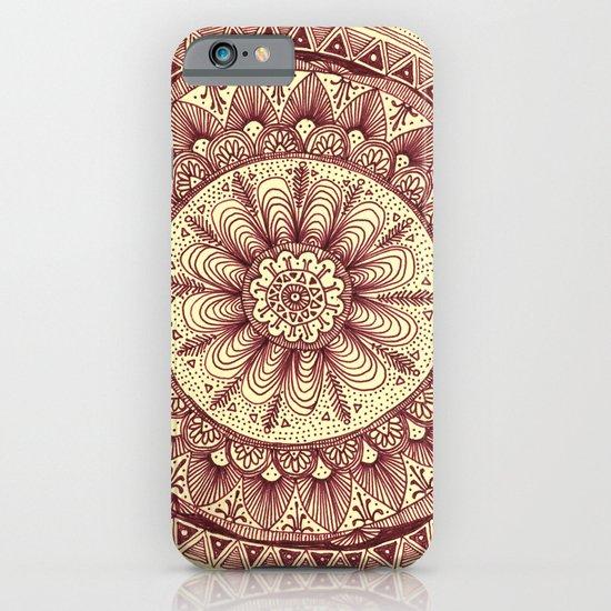 mandala: maroon iPhone & iPod Case