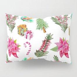 Christmas Pattern with Australian Native Bottlebrush Flowers Pillow Sham