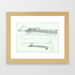 De La Warr Pavilion, Bexhill-on-Sea Framed Art Print