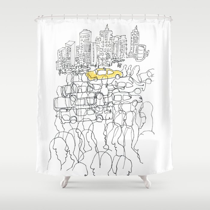 NYC Yellow Cab Shower Curtain By Baslinssen