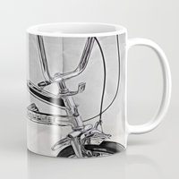 70s Mugs featuring 70s Iconic Bike Uk by Paul & Fe Photography