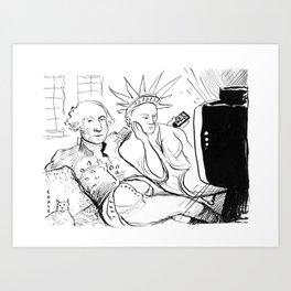 Washington and Liberty Art Print