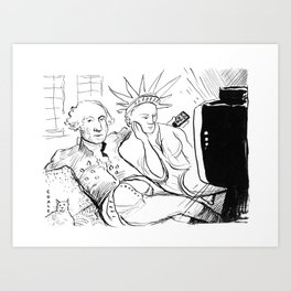 Washington and Liberty Art Print