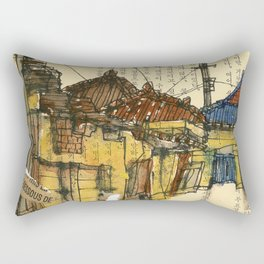 vintage city 18422 Rectangular Pillow