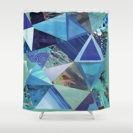 Collage - So Blue Shower Curtain