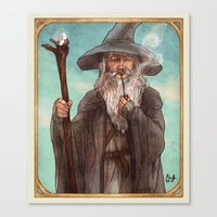 gandalf Canvas Prints featuring Gandalf by Casey Shaffer